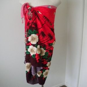 Other - Sarong Hibiscus Tropical Palm Trees and Flowers. F